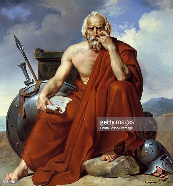 Portrait of Lycurgus legislator of Sparta Painting by Merry Joseph Blondel 1828 Oil on canvas Picardie Museum Amiens France