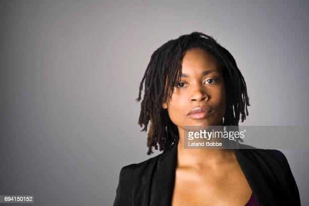 Portrait of M fixed Race Woman with Dreds