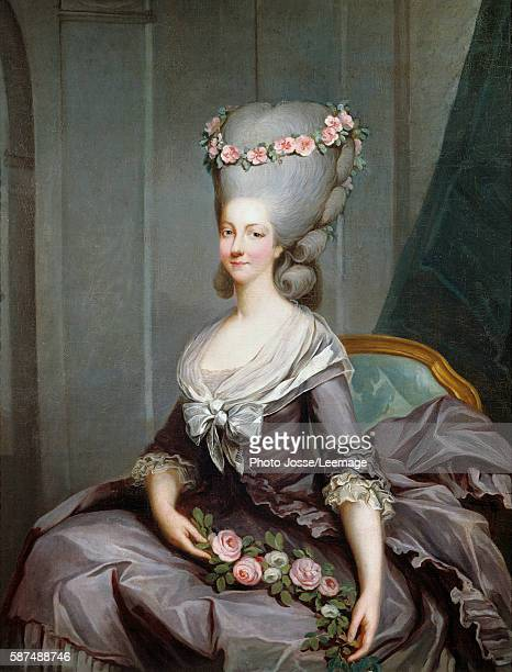 Portrait of Madame de Lamballe Painting by Antoine Francois Callet oil on canvas c 1776 Palace of Versailles France