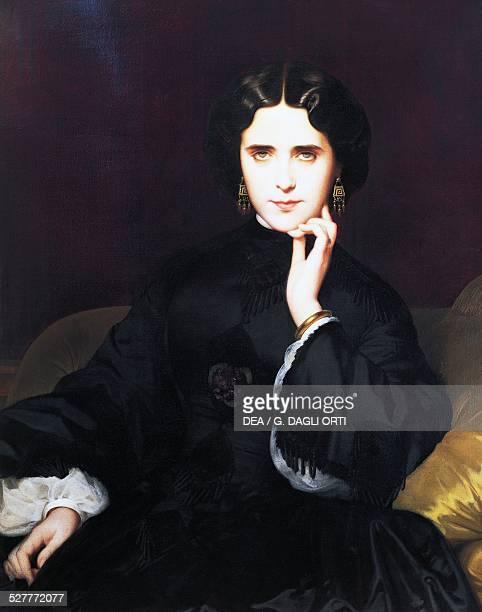 Portrait of Madame de Loynes painting by Eugene Emmanuel AmauryDuval oil on canvas France 19th century Paris Musée Du Louvre
