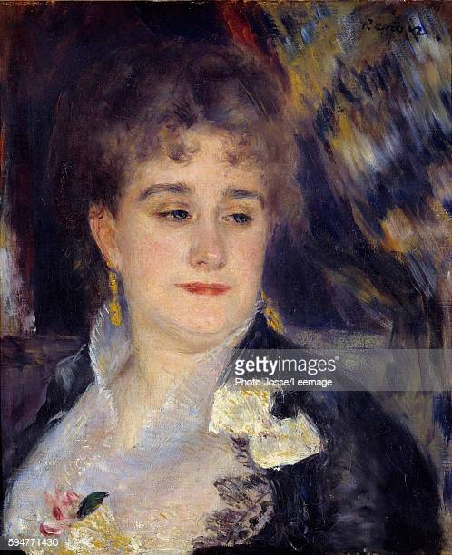 Portrait of Madame Georges Charpentier Painting by PierreAuguste Renoir 1876 187746 x 038 m Orsay Museum Paris