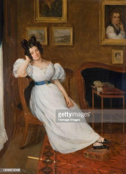 Portrait of Madame Simon, 1850. Artist Eugene Delacroix. .