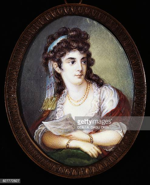 Portrait of Maddalena Riggi met and admired by Johann Wolfgang Goethe during his trip to Italy in 18131817 Italy 19th century Rome Museo Di Goethe