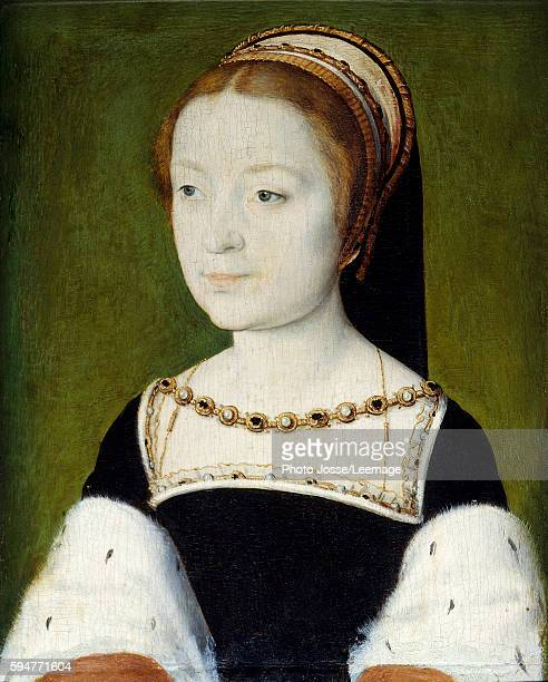 Portrait of Madeleine de France eldest daughter of Francois I Queen of Scots first wife of Jacques V Painting by Corneille de Lyon Oil on wood 022 x...