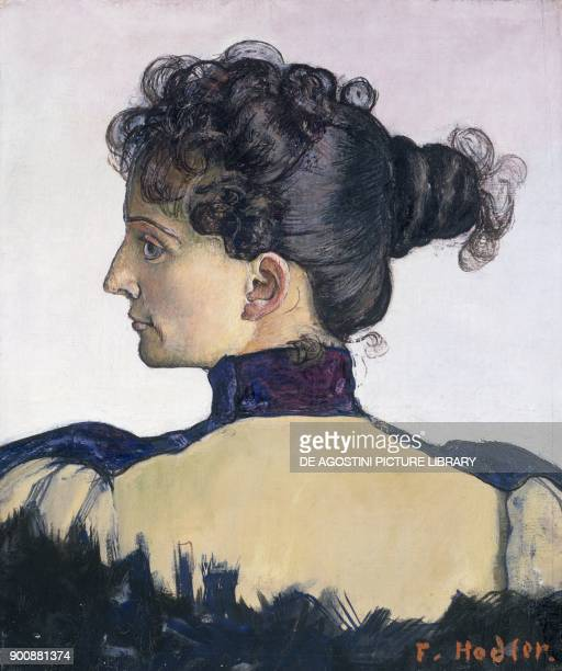 Portrait of Mademoiselle Berthe Jacques the artist's wife by Ferdinand Hodler