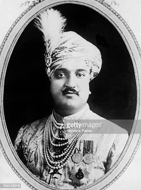 Portrait of Maharaja of Kashmir Hari Singh circa 19201939