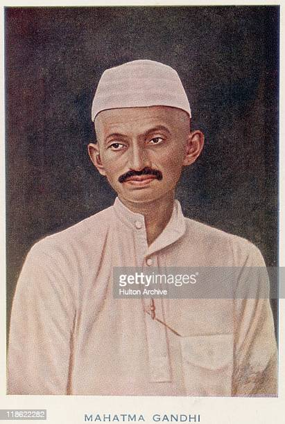 Portrait of Mahatma Gandhi a prominent figure in the Indian independence movement circa 1905