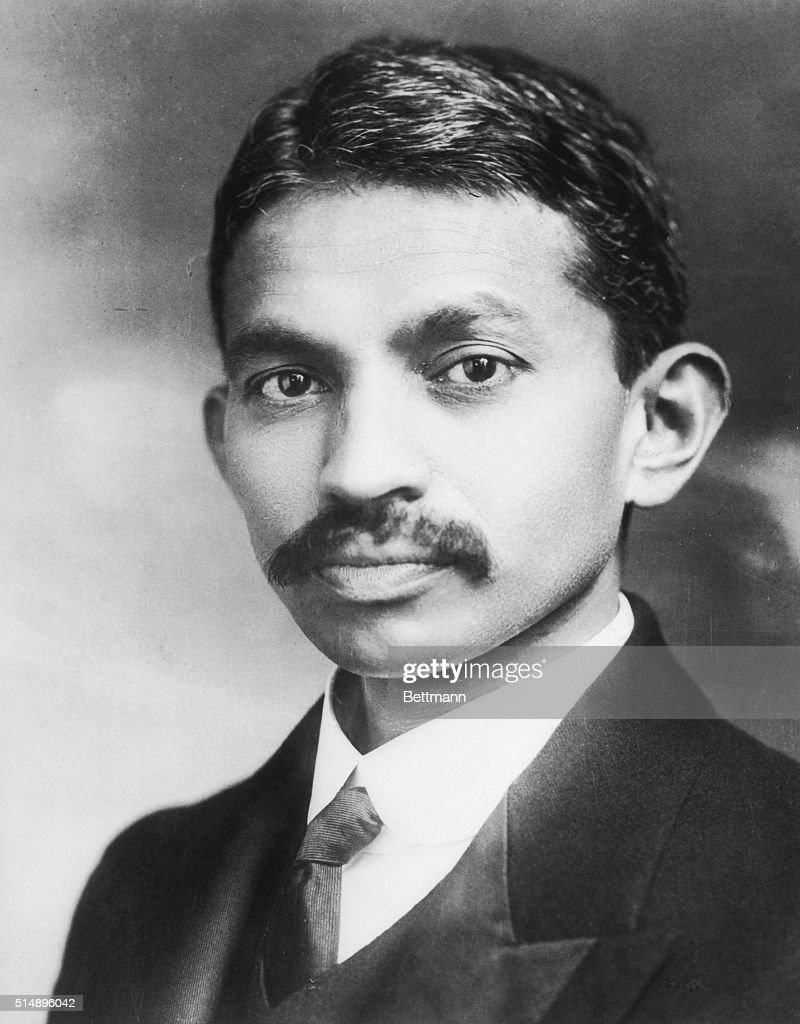Portrait of Mahatma Gandhi as a young man. Gandhi was the Hindu Nationalist Leader and the creator of satyagraha, social reform based in mass civil disobedience founded in the principal of complete nonviolent action.