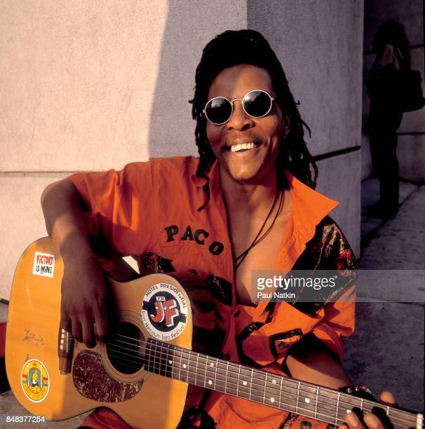 Portrait of Majek Fashek at the China Club in Chicago Illinois August 15 1992