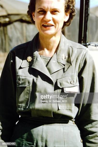 Portrait of Major Elizabeth Shepherd chief nurse at the 8063rd MASH South Korea January 1952