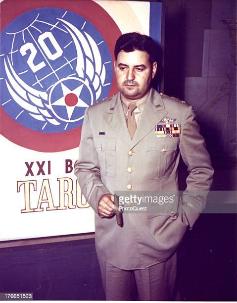 Portrait of Major General Curtis E LeMay US Army designated as Commanding General XXI Bomber Command Base in the Marianas Islands January 1945