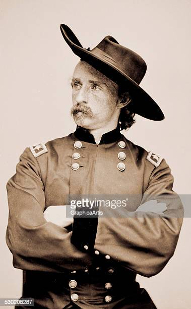 Portrait of Major General George A Custer officer of the Federal Army in uniform January 4 1865 Originally published by the Brady National...