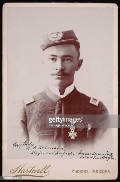 Portrait of Major Herbert Fulwiler Robinson , Between 1893 and 1897. In uniform. Artist Frank A Hartwell.