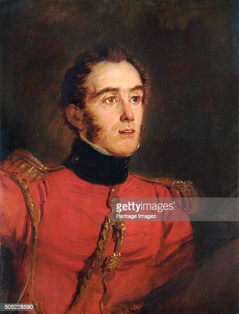 Portrait of MajorGeneral John Freemantle British soldier 1821 In 1815 at the Battle of Waterloo LieutenantColonel Freemantle was aidedecamp to the...