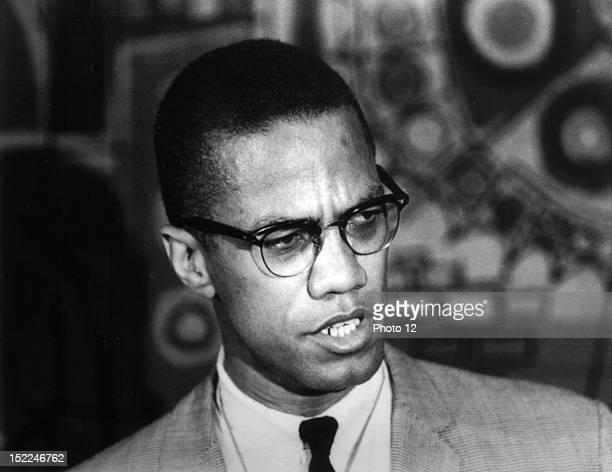 Portrait of Malcolm X, 20th century, United States, New York, Schomburg Center.