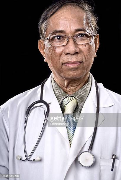 Portrait of Male Asian Doctor Weaing Lab Coat and Stethoscope