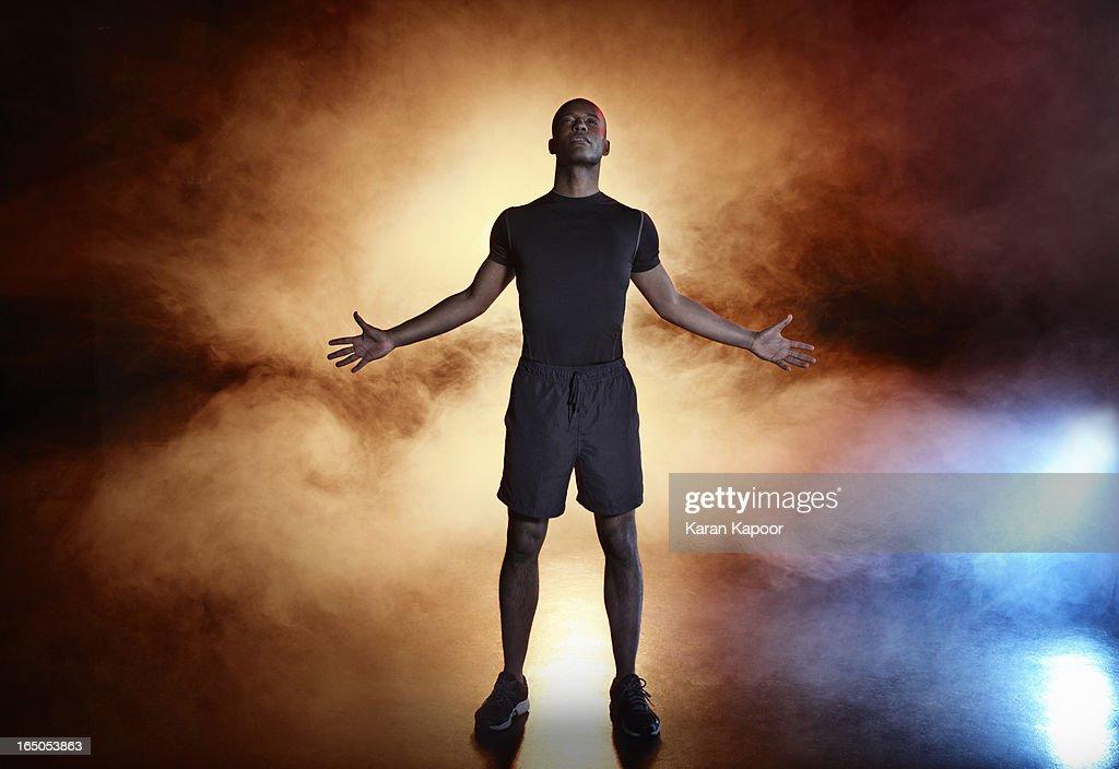 Portrait of Male Athlete : Stock Photo
