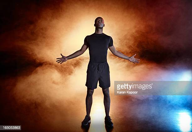 portrait of male athlete - confidence stock pictures, royalty-free photos & images