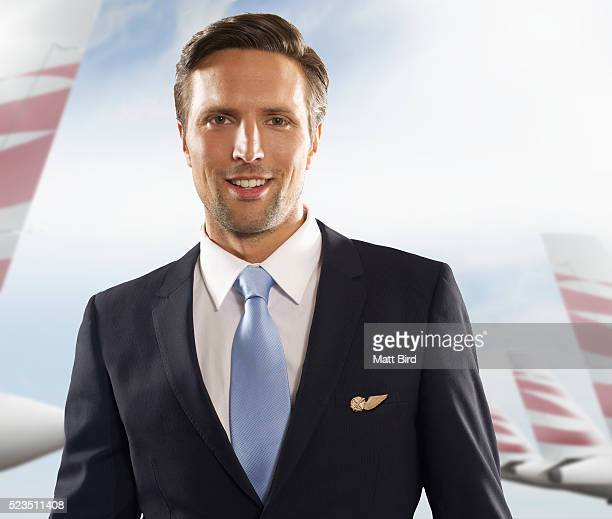 Portrait of male cabin crew member at airport