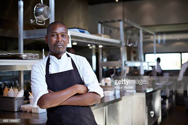 Portrait of male chef at restaurant