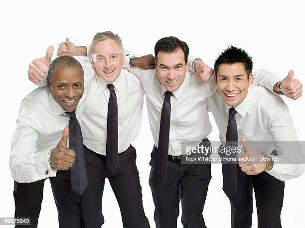 a portrait of male colleagues - mid adult men imagens e fotografias de stock
