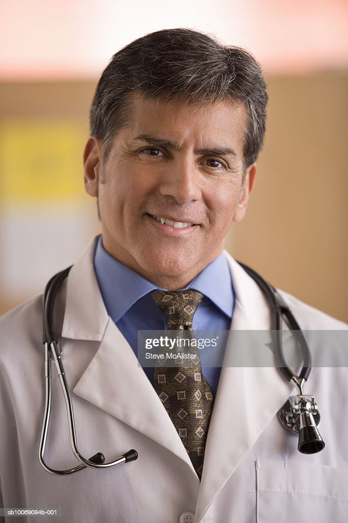 Portrait of male doctor : Stockfoto