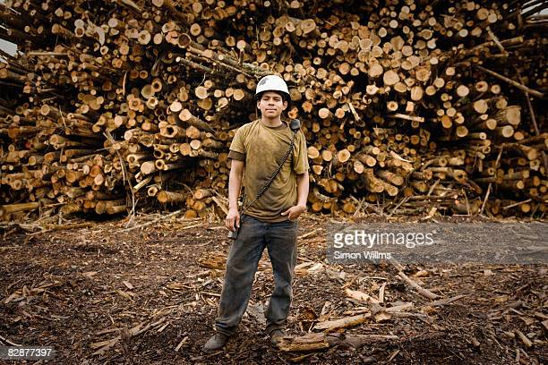 Portrait of male laborer