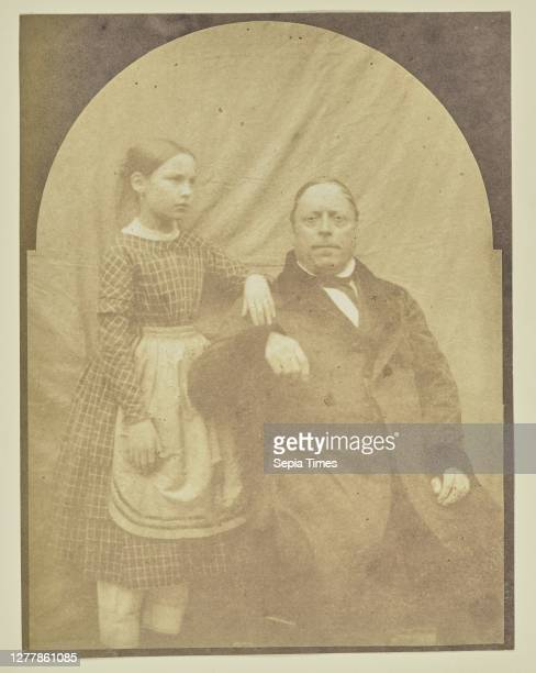 Portrait of man and girl; Hippolyte Bayard ; about 1840–1849; Salted paper print; 15.8 × 12.1 cm .
