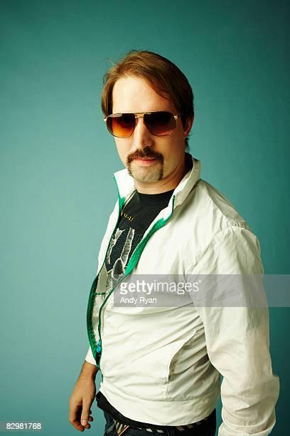 Portrait of Man Dressed in 1980's Retro Style