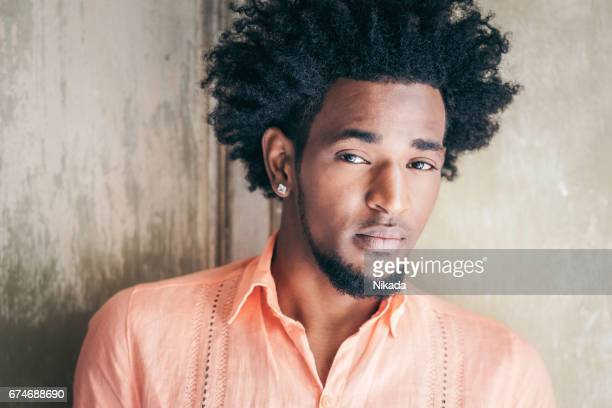 portrait of man, havana, cuba - most handsome black men stock photos and pictures