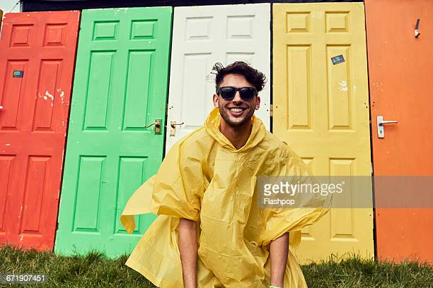 Portrait of man having fun at a music festival