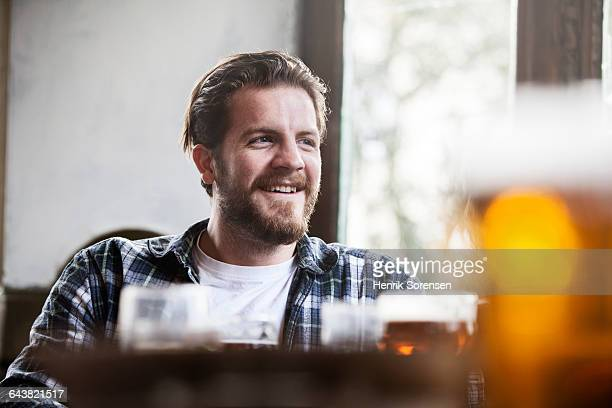 Portrait of man in a pub