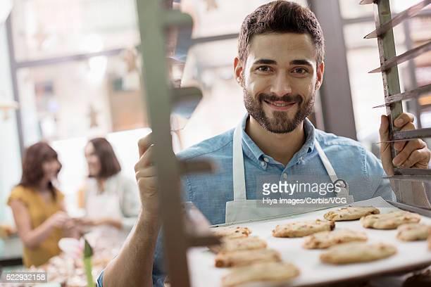 Portrait of man in bakery