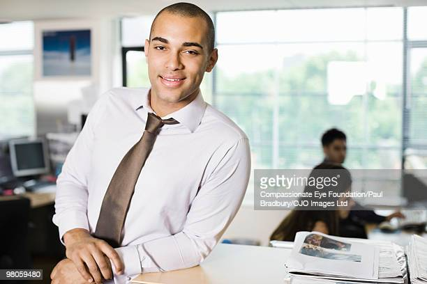 Portrait of man in office environment