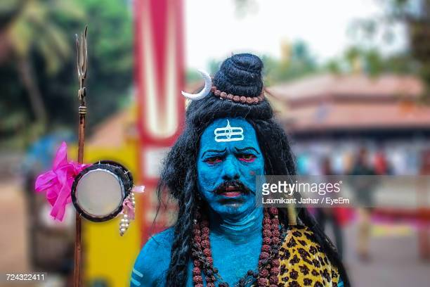 portrait of man in shiva costume - god stock pictures, royalty-free photos & images
