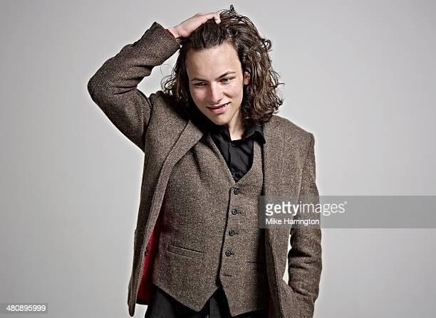 portrait of man in three piece tweed suit. - eccentric stock pictures, royalty-free photos & images