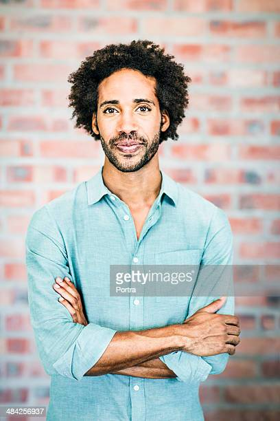 Portrait of man of a mixed race
