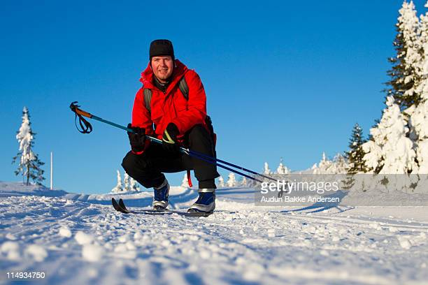 portrait of man - ski pole stock pictures, royalty-free photos & images