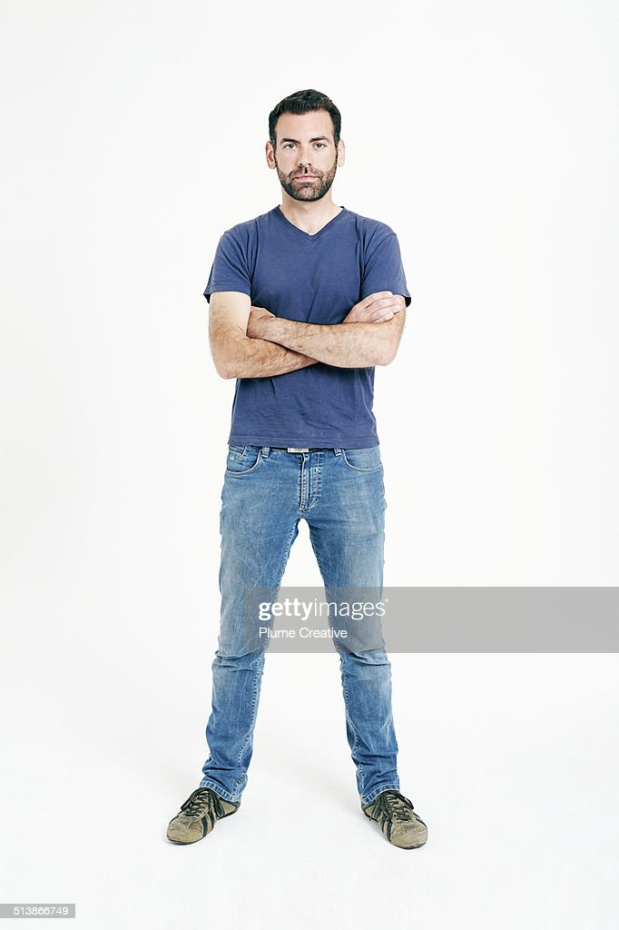 Portrait of man : Foto de stock