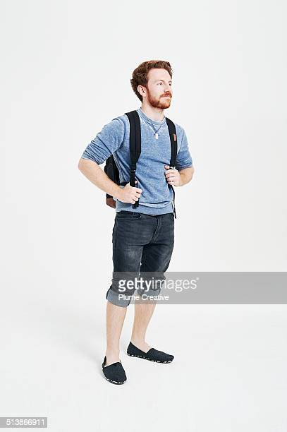 portrait of man - shorts stock pictures, royalty-free photos & images