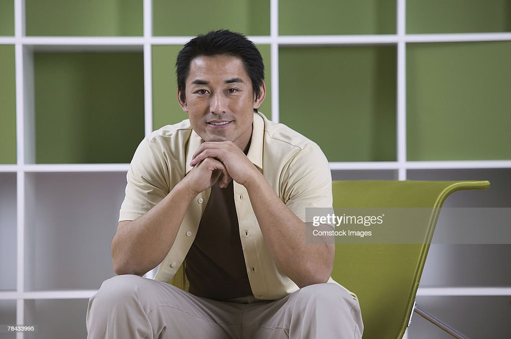 Portrait of man : Stockfoto