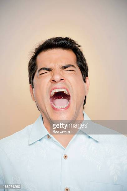 Portrait of man shouting