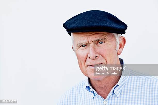 Portrait of man wearing cap
