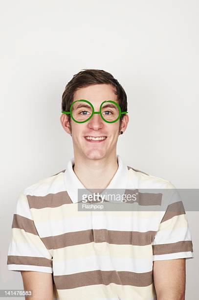 Portrait of man wearing glasses