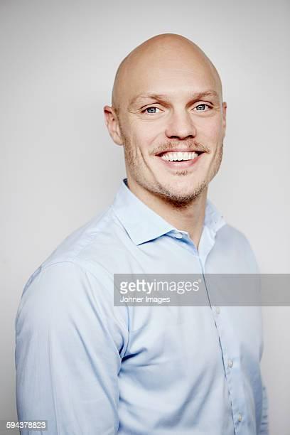 Portrait of man wearing shirt