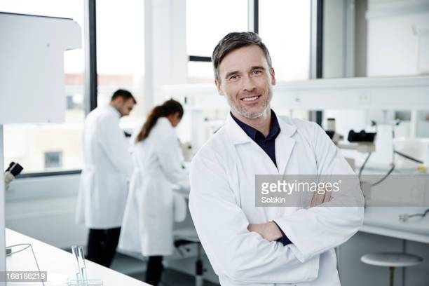 Portrait of man working in laboratory