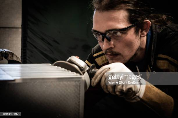 portrait of man working - north lincolnshire stock pictures, royalty-free photos & images