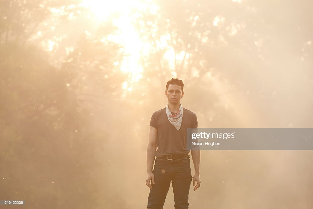 Portrait of man young man looking to camera : Stock Photo