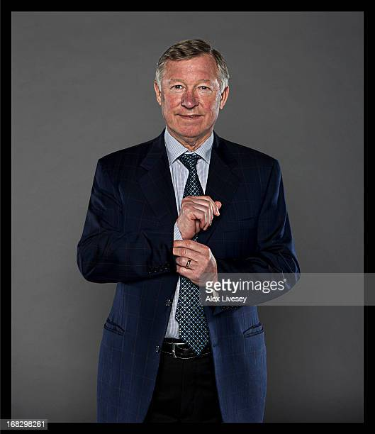 A portrait of Manager Sir Alex Ferguson of Manchester United at Carrington Training Ground on April 3 2013 in Manchester England
