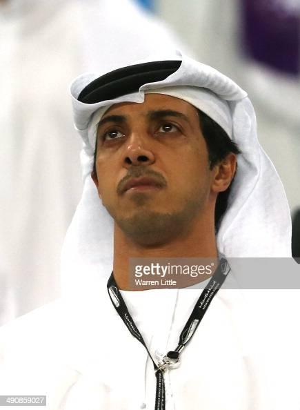 A portrait of Manchester city owner Sheikh Mansour bin ...